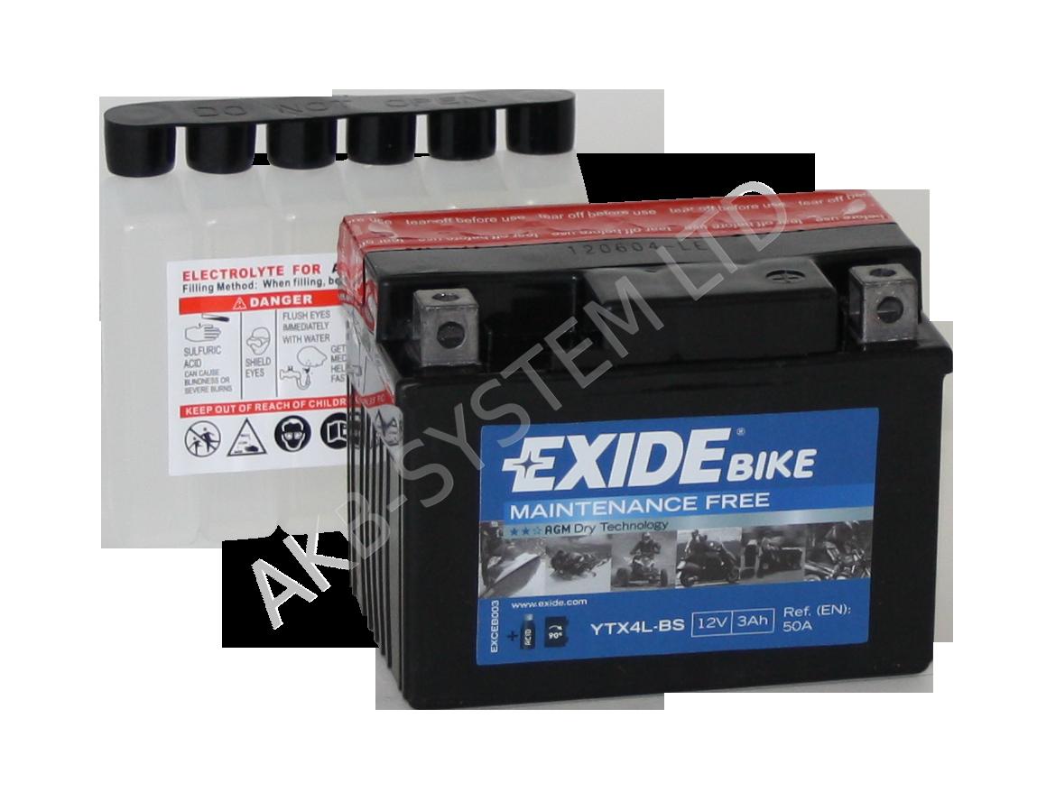 Аккумулятор Exide  12В 3А/ч