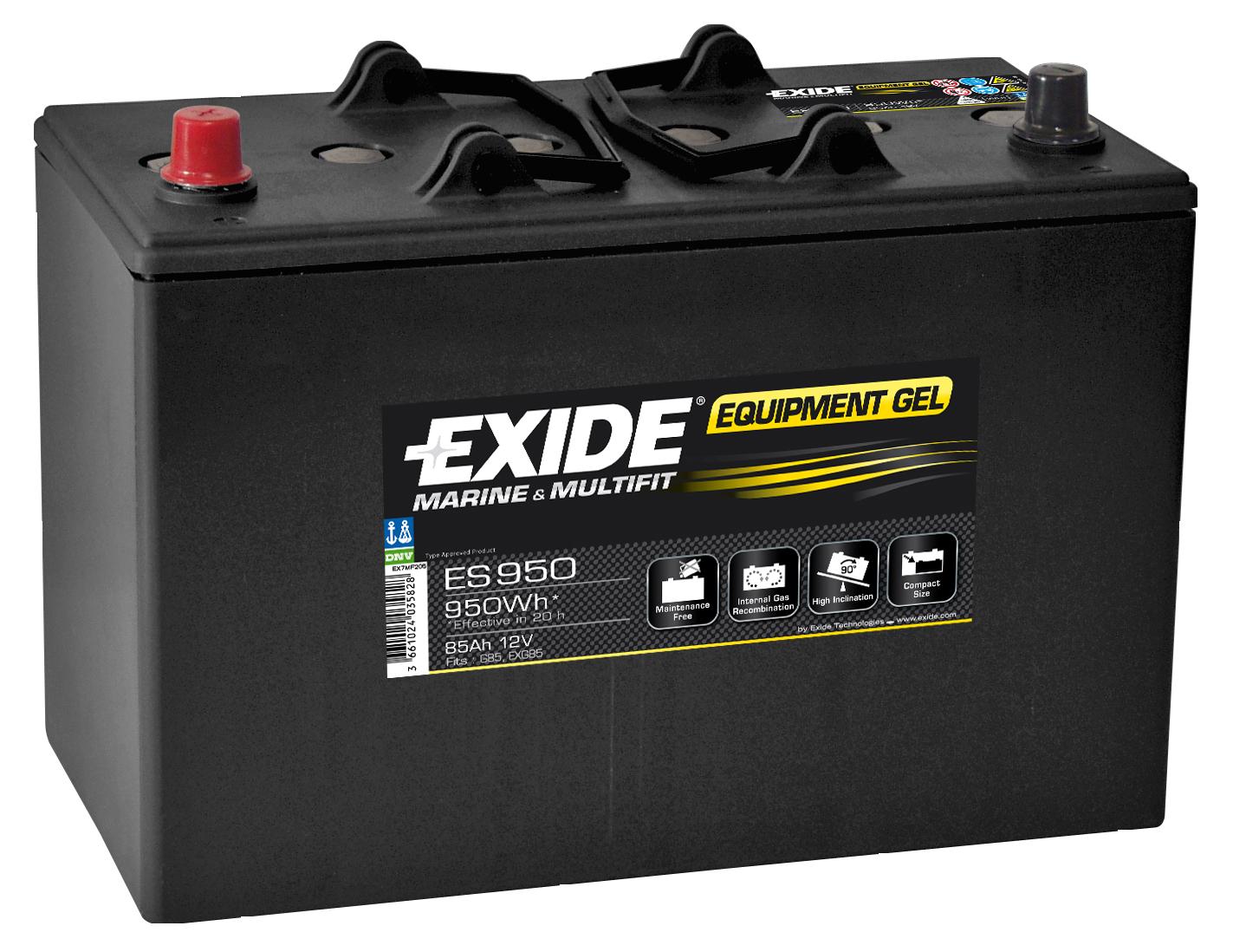 Аккумулятор Exide  12В 85А/ч