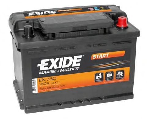 Аккумулятор Exide  12В 74А/ч