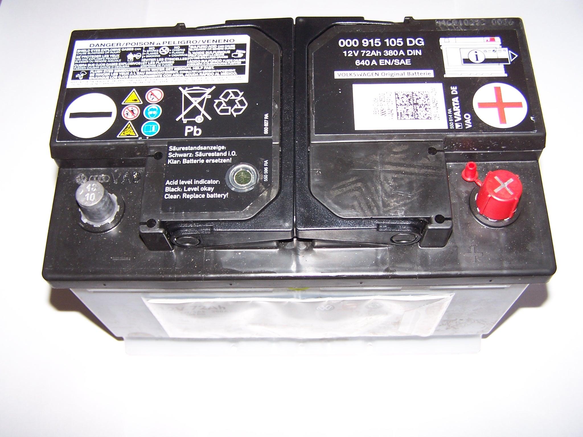 Аккумулятор Vag, 12В 72А/ч