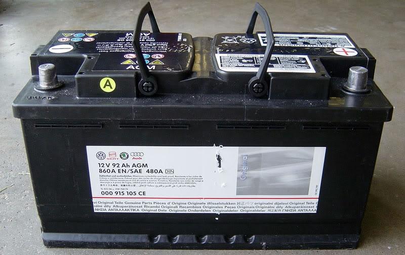 Аккумулятор Vag, 12В 92А/ч