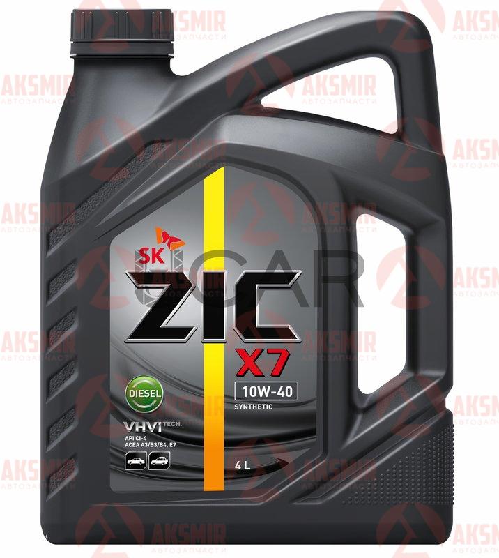 Моторное масло ZIC X7 10W-40 Diesel 4л.