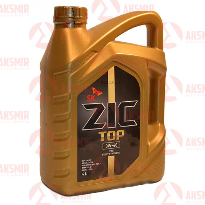Моторное масло ZIC TOP 0W-40 4л.