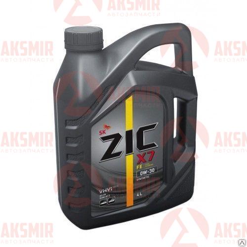 Моторное масло ZIC  X7 FE 0W-30 4л.