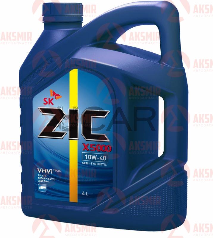 Моторное масло ZIC X5000 10W-40 4л.