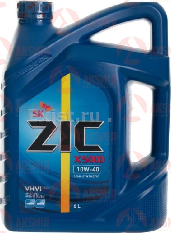 Моторное масло ZIC X5000 10W-40 6л.