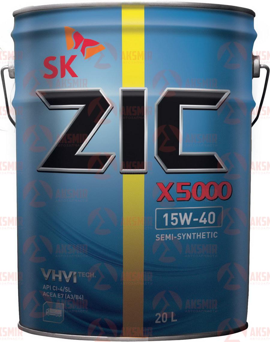 Моторное масло ZIC X5000 15W-40 20л.