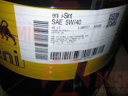 Моторное масло ENI I-Sint 5W-40 60л.
