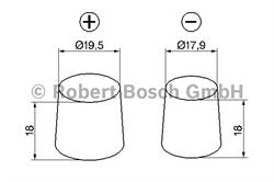 Аккумулятор 12В 44А/ч Bosch - 0 098 022 255
